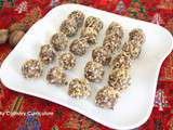 Truffes au chocolat au lait et aux noix (Milk chocolate truffles and walnuts)