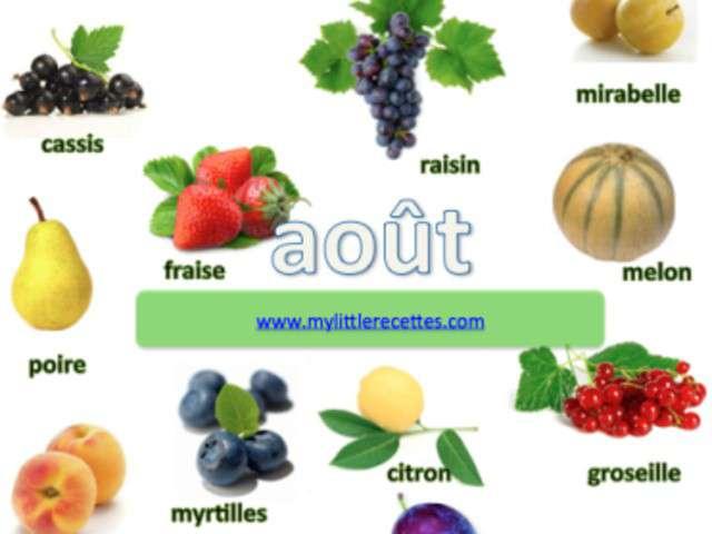 Recettes de fruits de my little recettes - Fruits et legumes aout ...