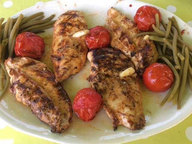 Recettes de barbecue et poulet marin - Poulet grille au barbecue ...