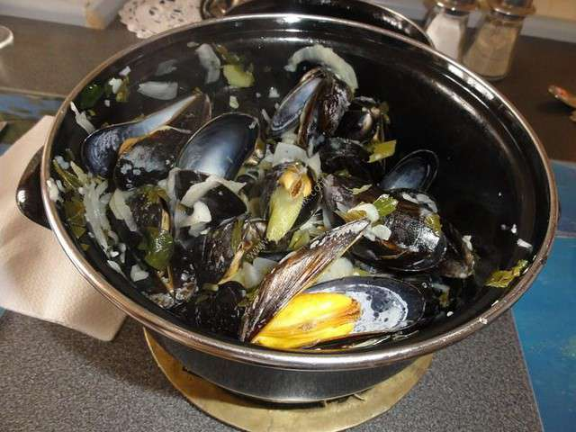 recettes de moules marini res et thermomix. Black Bedroom Furniture Sets. Home Design Ideas