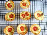 Mini quiches tortillas ricotta pesto tomates