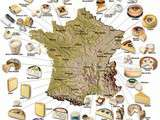 Carte des fromages en France