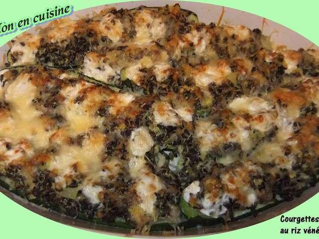 Recettes de courgettes farcies de papillon en cuisine - Recette courgette farcie riz ...