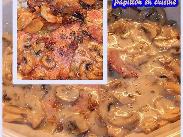 Recettes de sauce champignon et jambon - Champignon de paris recette poelee ...