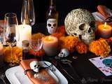 Décoration de table d'halloween 2017 : version dia de muertos