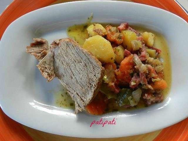 roti de porc aux legumes d ete cocotte