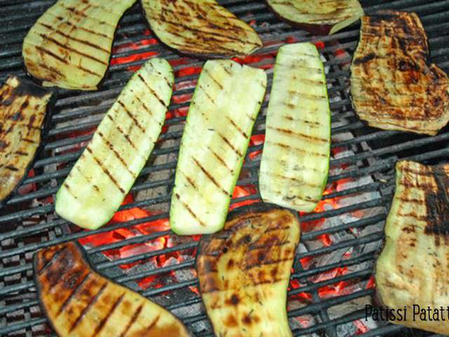 Recettes de barbecue et courgettes - Courgettes grillees au barbecue ...