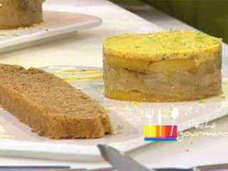 D'Anne Alassane : terrine de foie gras mangue passion et son pain d'épices