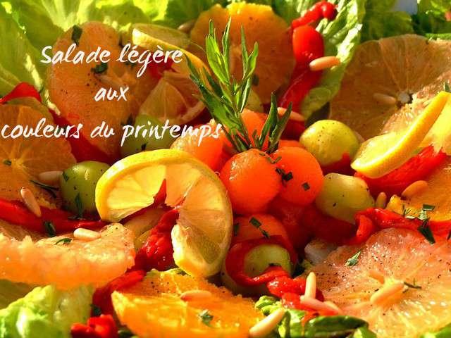 Recettes de salade l g re for Plats entre amis