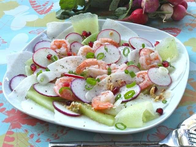 Recettes de crevettes de petits repas entre amis for Menu repas amis
