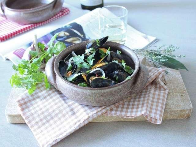 Les meilleures recettes de moules et coriandre for Petits repas entre amis