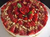Cheese cake fraises gingembre citron