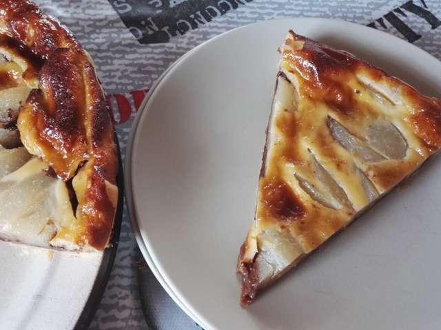 Recettes de tarte aux poires et chocolat - Recette fond de tarte ...