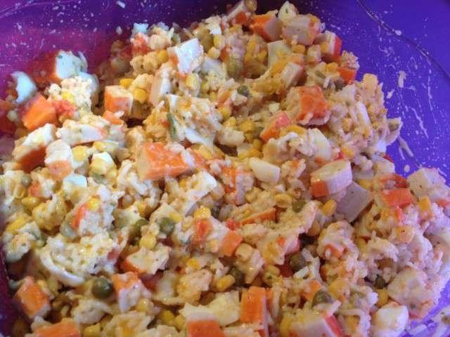 salade composee pomme de terre oeuf et surimi