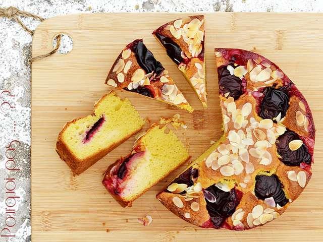 Gateau facile avec des prunes