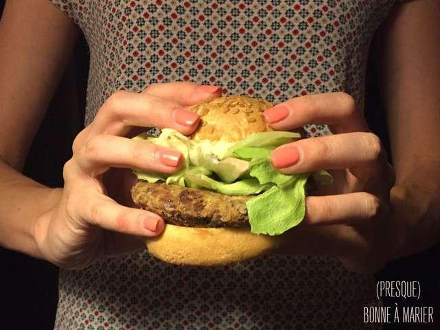 recettes de burger et pois chiche. Black Bedroom Furniture Sets. Home Design Ideas