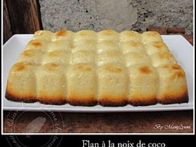 Recettes de flan et noix de coco 6 - Flan patissier a la noix de coco ...