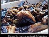 Travers de porc en marinade balsamique