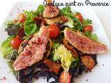 Salade de filets de rougets sur tapenade