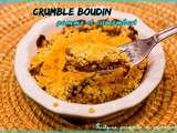 Crumble au boudin, pomme et camembert #Thermomix