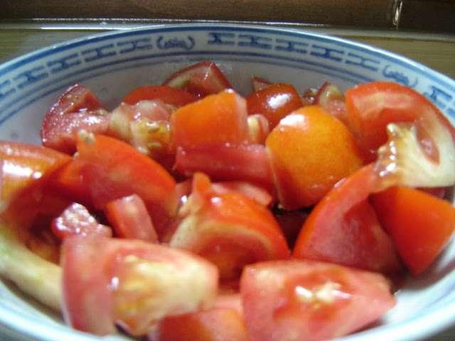 Recettes de salade de tomates de recettes d 39 une chinoise - Salade de tomates simple ...