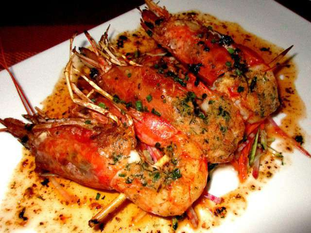 Recettes de gambas et tomates - Marinade gambas grillees au barbecue ...