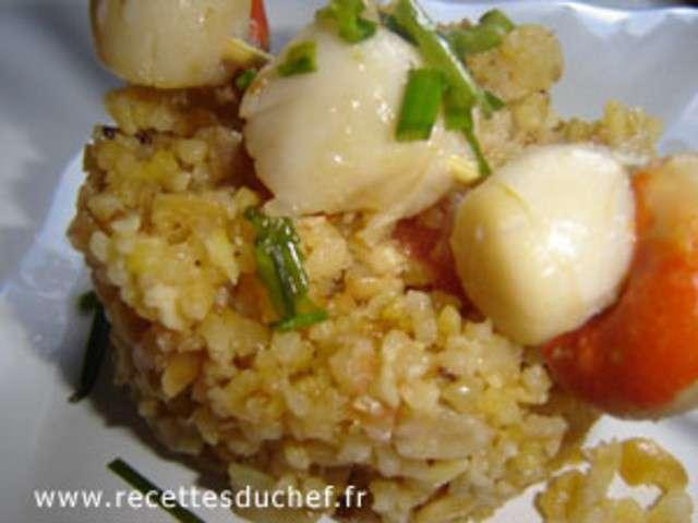 Recettes de noix de saint jacques et brochettes for Brochette noix de saint jacques
