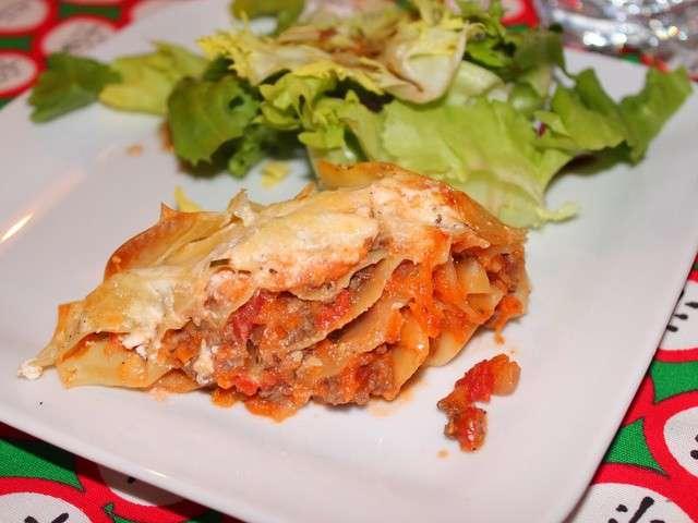 Recettes de lasagnes de recettes faciles rapides - Lasagne facile et rapide ...