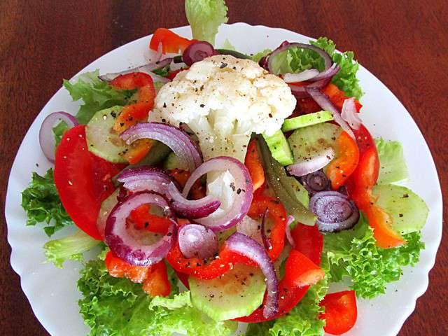 Recettes de crudit s et concombre - Decoration de salade sur assiette ...