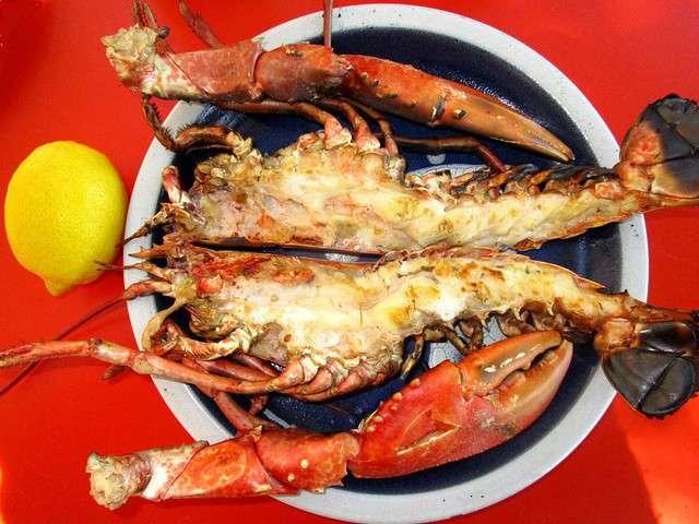 Recettes de homard et barbecue - Recette homard grille ...