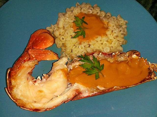 Recettes de crustac s et p tes - Recette homard grille ...