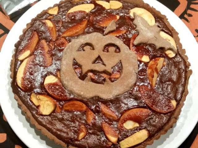 Recettes de tarte aux pommes et chocolat - Recette tarte aux chocolat ...