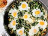 Adeena Sussman's Green Shakshuka with Crispy Latkes Recipe
