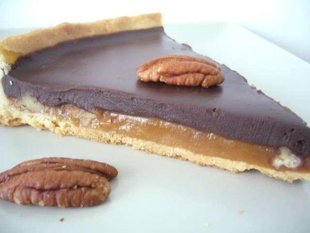 recettes de tarte aux noix et chocolat. Black Bedroom Furniture Sets. Home Design Ideas