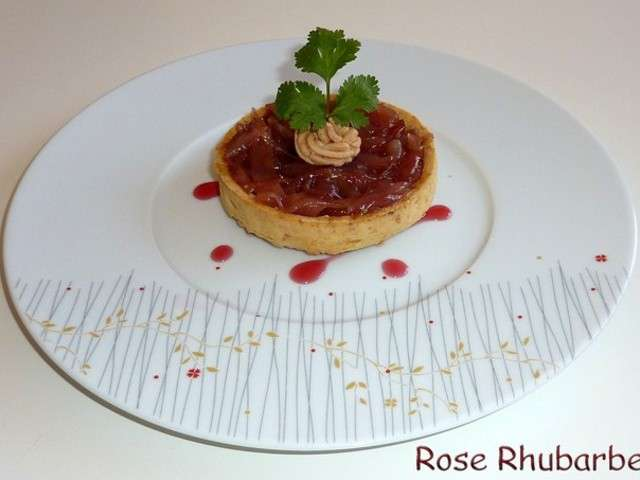 Recettes de foie gras de rose rhubarbe - Herve cuisine hamburger ...