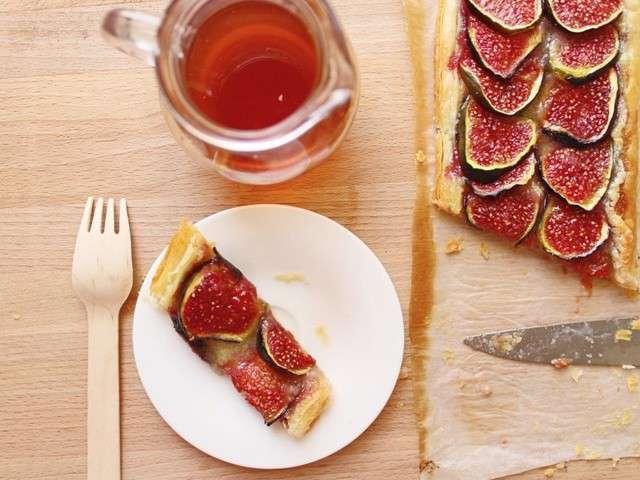 recettes de tarte aux figues et sirop. Black Bedroom Furniture Sets. Home Design Ideas