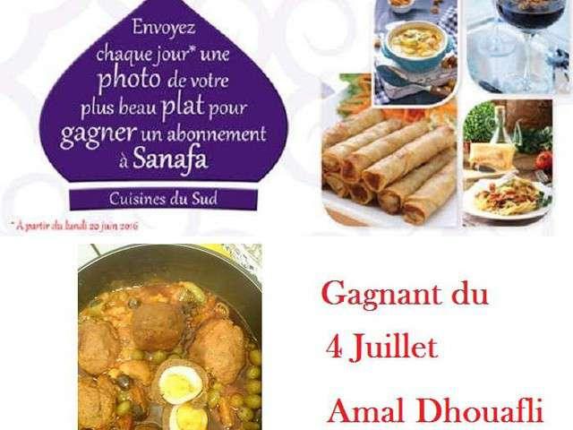 Recettes de concours de sanafa recettes de cuisine orientale for Cuisine orientale