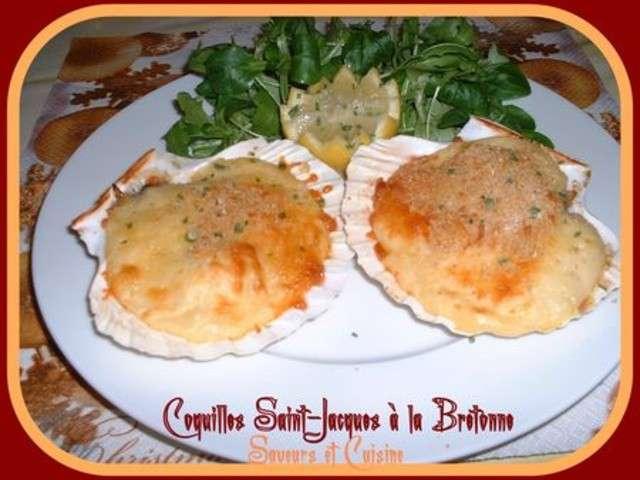 Les meilleures recettes de coquilles saint jacques et jacque - Coquille saint jacques bretonne ...