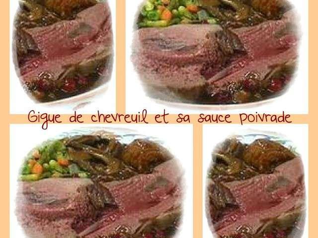 Recettes de sauce poivrade - Comment cuisiner une gigue de chevreuil ...