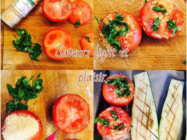 Recettes de l gumes grill s et saumon - Recette legumes grilles au four ...