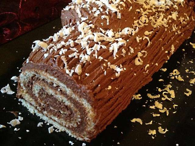 Recette buche ganache chocolat - Buche de noel facile et legere ...