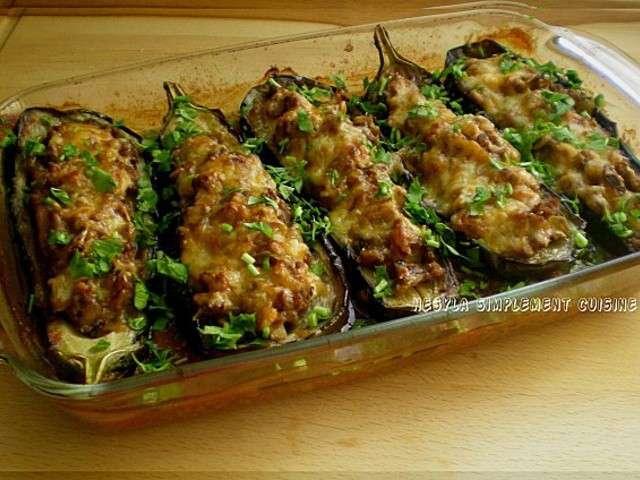 Les meilleures recettes de viande hach e et aubergines - Cuisiner aubergine rapide ...