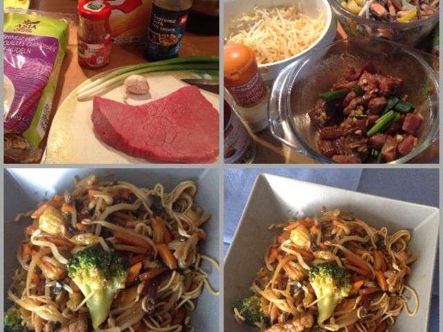 Recettes De Nouilles Chinoises Et Viande
