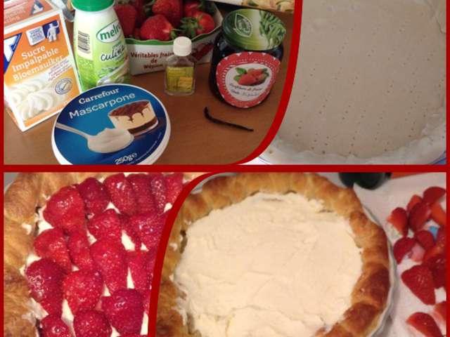 recettes de mascarpone et tarte aux fraises. Black Bedroom Furniture Sets. Home Design Ideas