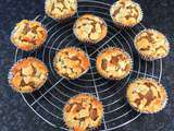 Muffins rhubarbe et bananes façon crumble