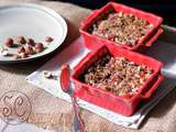Crumble de fruits aux noisettes