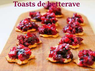 Toasts à la betterave #Noël