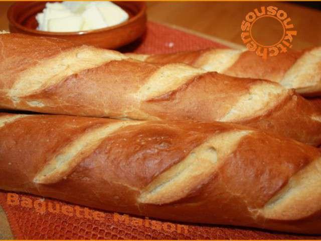 Recettes de baguette et pain for Baguette de pain maison
