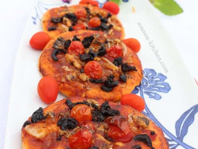 Recettes de p te pizza epaisse de sousoukitchen - Recette pate a pizza italienne epaisse ...