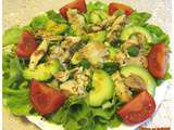 Salade poulet avocat tomates - sucreetepices.over-blog.com